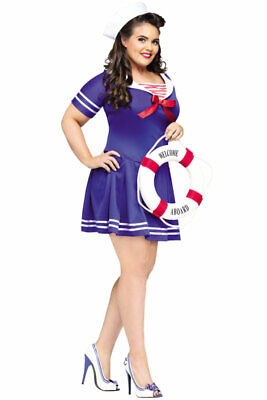 Sailor Anchor's Away Plus Size Halloween Costume - Sailors Halloween Costumes
