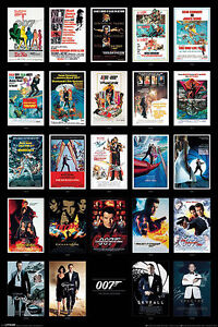 James Bond 007 Poster Filmplakate Collage mit Gratisposter
