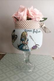 Alice In Wonderland roses jar