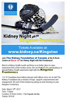Kidney Night with the Frontenacs