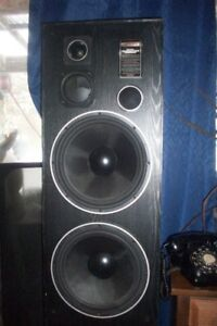 "large pair loudspeakers { 2 }  12"" woofers $65 or offer"