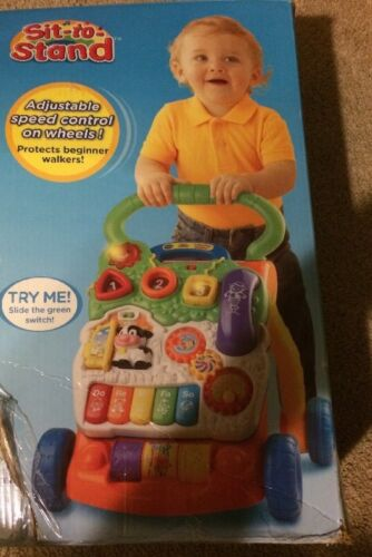 VTech Sit-to-Stand Learning Walker Adjustable Speed Control