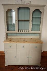 Large Welsh Dresser Farmhouse Country Shabby Chic Vintage