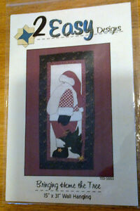 3 Christmas Quilt wall hangings - $2.00 each