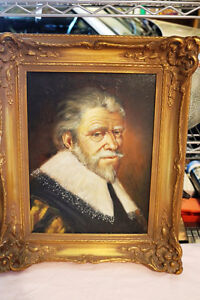 ORIGINAL ART WORLD RENOWNED LATOUR PORTRAITS SUPER OIL CANVAS