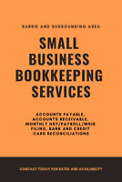 Bookkeeping Services Available in the Barrie & Surrounding Area