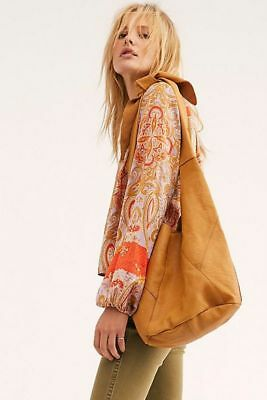 Free People NWT Sienna Oversized Luxe Leather Sling Bag Tote (Leather Oversized Handbag)