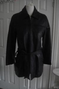 DANIER Black Genuine Leather Women Jacket/Coat Size S/P