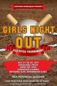 NOrthern Bomb Squad Ladies Softball Tournament
