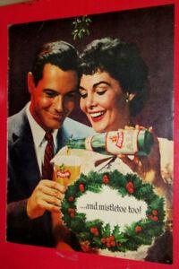 1957 O'KEEFE BEER CHRISTMAS VINTAGE AD - ANONCE BIERE RETRO NOEL