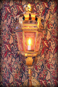 Amazing Antique Lantern, handmade medieval look  wall sconce
