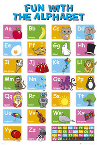 EDUCATIONAL - Alphabet Poster Print, 24x36