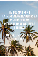 Looking for an Entrepeneur