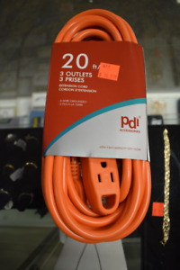 20ft 3 Outlet Outdoor Extension Cord (#677)