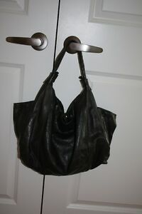 Olive Green Leather Handbag