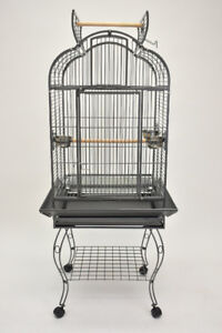 """*ON SALE* 24"""" Open top style parrot cage with stand-on balcony"""
