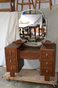 Antique Vanity with Mirror