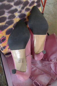 Pink Patent Leather Stietto Boots North Shore Greater Vancouver Area image 3