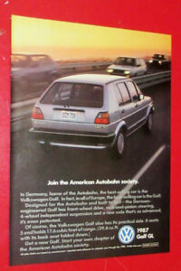 RETRO 1987 VOLKSWAGEN GOLF AD + FIREHAWK TIRES WITH FIREBIRD BAK