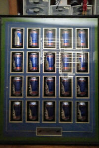 Stanley Cup Collectible Labatt Blue Cans with Display Case