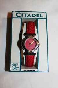 CITADEL Red Quartz Analog Watch, New in Box