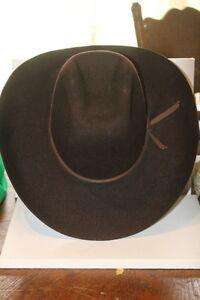 BROWN VINTAGE BILTMORE WESTERN COWBOY HAT SIZE 7 1/4
