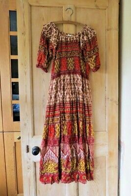 UO Indian Ocean Boho Vintage Style Midi Dress Sz Small