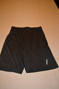 Men's Dark Grey Reebok Athletic Shorts