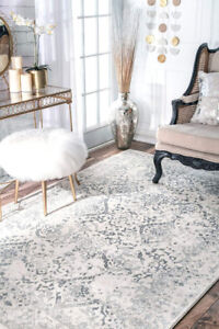 Brand New Ivory Distressed Style Area Rug - 6'7x9 -Retail $392