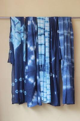 5 pcs wholesale Cotton Women Stole Sexy Beach Wear Shibori indigo Scarf Lot Neck