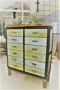 RUSTIC APOTHECARY STYLE 12 DRAWER DRESSER, HAND CRAFTED