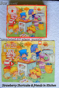 Vintage Strawberry Shortcake jigsaw puzzle Parker 60 pcs  4-8 yr