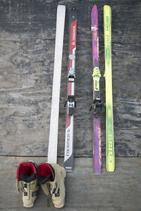 "Head Carbon and Rossignol Frontier ""S"" Downhill Skis"