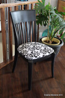 1 of a kind black and white accent chair
