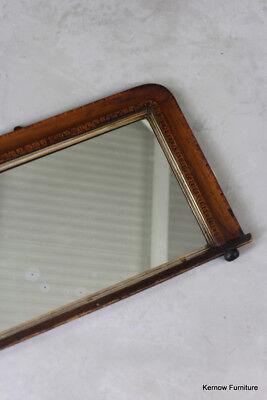 Edwardian Tunbridge Overmantle Mirror