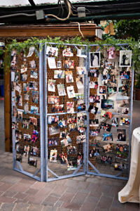 Rustic 3 fold photo display- Wedding decor