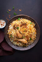 Cheap chicken,beef and vegetable biryani