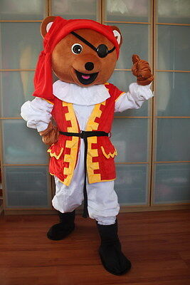 Professional Pirate Costumes (Professional Pirate Bear Mascot Costume Fancy Dress Adults Cosplay Party Parade)