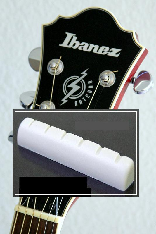 FREE SHIPPING~GeetarGizmos SLOTTED BONE NUT for Ibanez Guitar