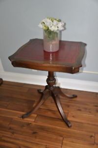 Antique walnut plant stand end table