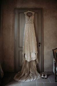 Beautiful and delicate wedding dress