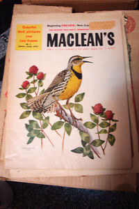1957 MacLeans magazine in very good condition