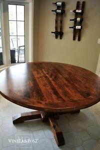 Reclaimed Wood Round Tables