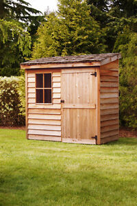 Cedarshed for sale 6 x 3 lean-to