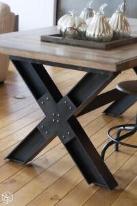 Tables de cuisine de style industriel sur mesure