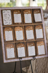 RUSTIC SHABBY CHIC SEATING CHART Windsor Region Ontario image 1