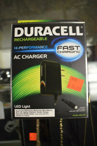 NEW Duracell Rechargeable HI-Performance AC Charger