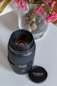 For sale - Canon EF 100mm f/2.8 Macro USM lens with B+W filter.