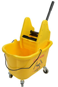 Mop Bucket With Press Wringer