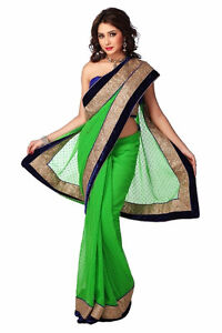 Blue and Green Saree, Brand New